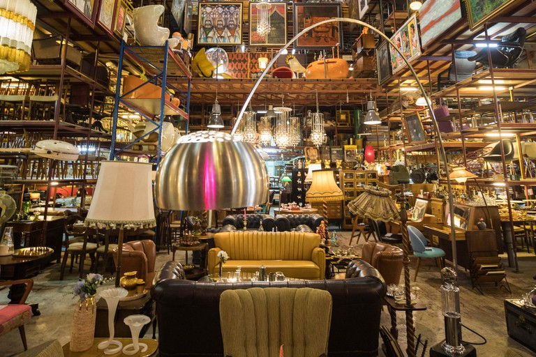 Bangkok. 30th June, 2019. Photo taken on June 30, 2019 shows the Papaya Studio in Bangkok, Thailand. Papaya Studio, a secondhand shop located in a lane of Bangkok, was opened 40 years ago by a collection lover in a storehouse of 4000 square meters. More t