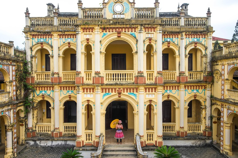Vua Meo is a french colonial villa / baroque style palace constructed for a Hmong king in 1914 to 1921. Bac Ha, Vietnam