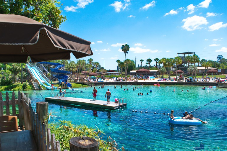 Weeki Wachee city in Florida known for mermaids show and crystal clear waters.
