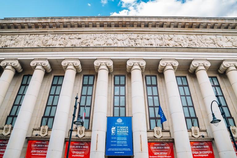 Sofia, Bulgaria - August 4, 2019 : National Opera and Ballet