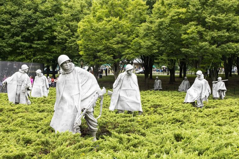 Korean War Veterans Memorial located in National Mall. WWR9PX