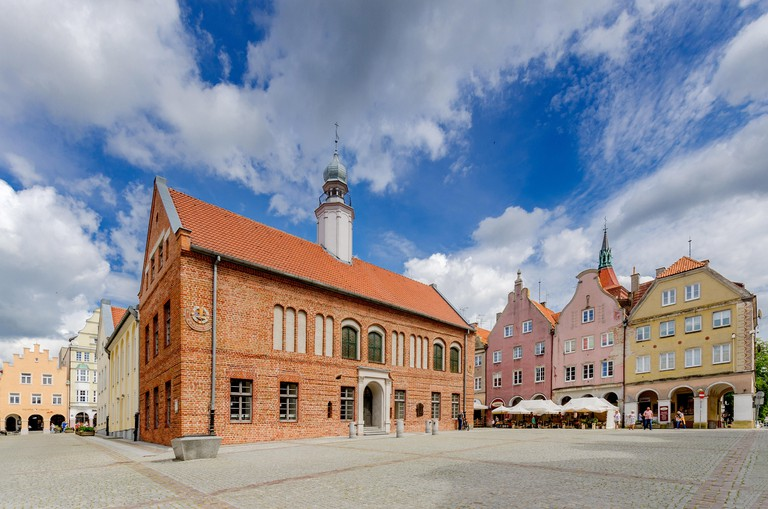 Olsztyn (ger.: Allenstein), Warmian-mazurian province, Poland. The old townhall on the Old Town Marketplace