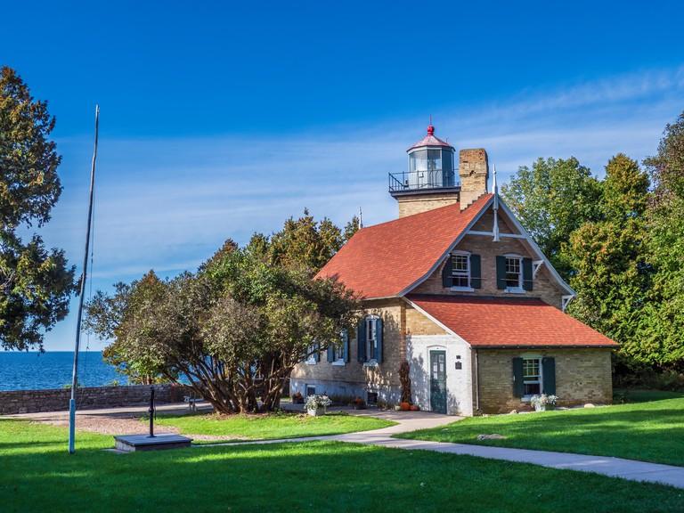 Eagle Bluff Lighthouse, Peninsula State Park, Fish Creek, Wisconsin.
