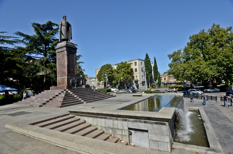 Shota Rustaveli Monument. Tbilisi, Georgia