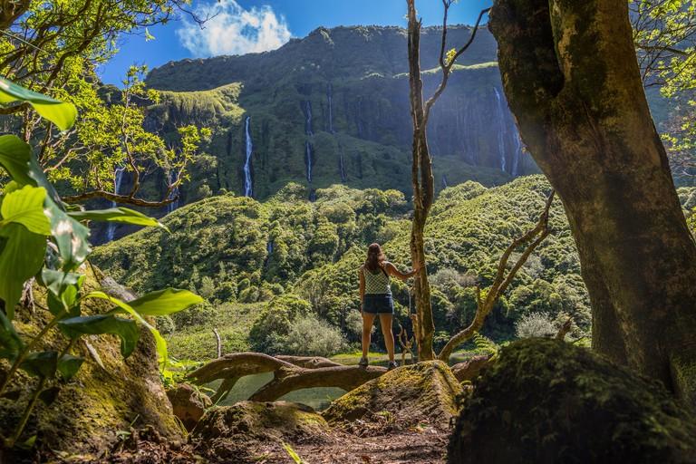 Poco da Ribeira do Ferreiro, Flores Island, Azores, Portugal