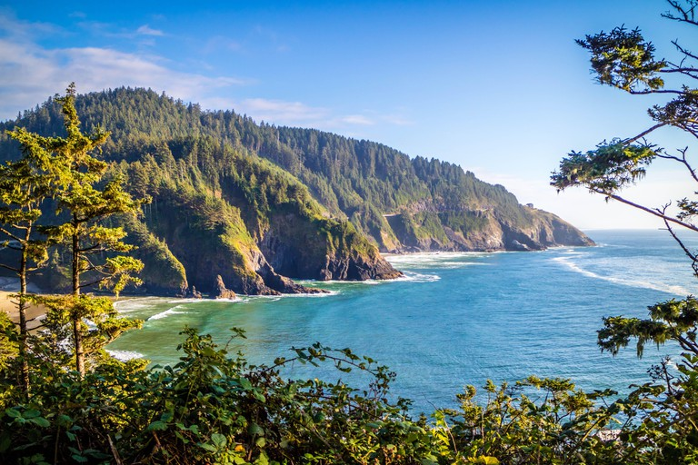 Heceta Head Lighthouse State Park Scenic Viewpoint in Florence, Oregon. Image shot 08/2018. Exact date unknown.