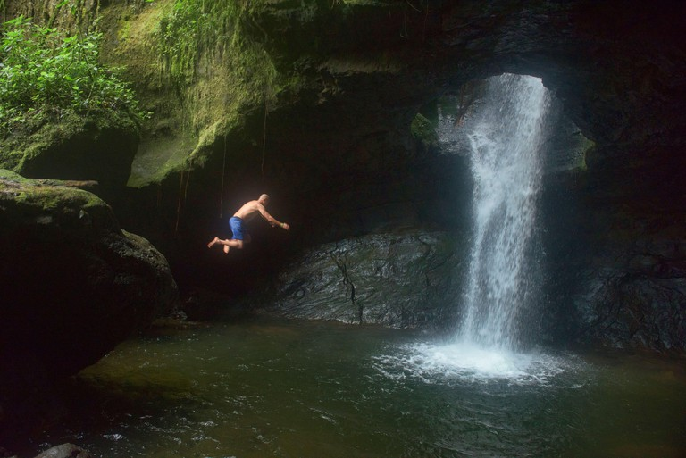 Diving into the beautiful Cueva del Esplendor, Jardin, Antioquia, Colombia
