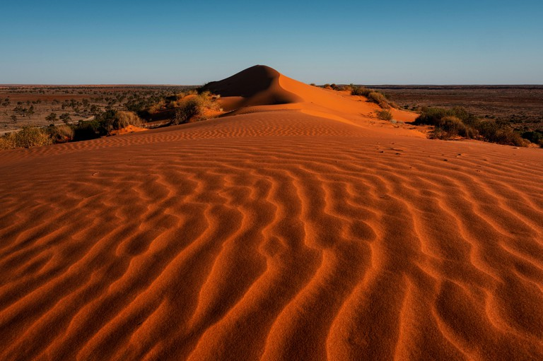 The famous red dunes of Simpson Desert.