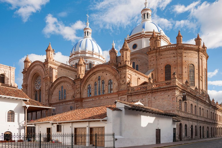 The Cathedral of the Immaculate Conception in Cuenca, Ecuador.