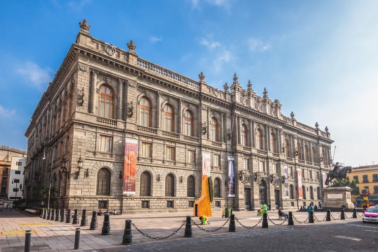 Mexico City, Mexico - November 17, 2019: Museo Nacional de Arte (MUNAL), the prior Communications and Public Works Palace