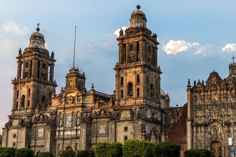 Metropolitan Cathedral, a Roman Catholic church in downtown Mexico City, was built over 250 years starting in 1573.