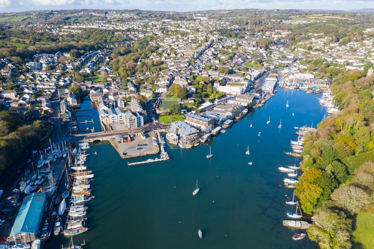 Falmouth. Cornwall, England from the air