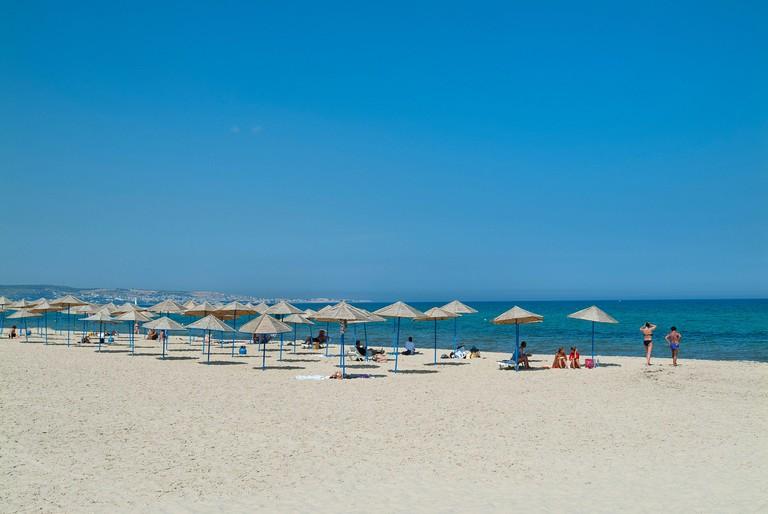 Beach, Hammamet Yasmine, Tunisia