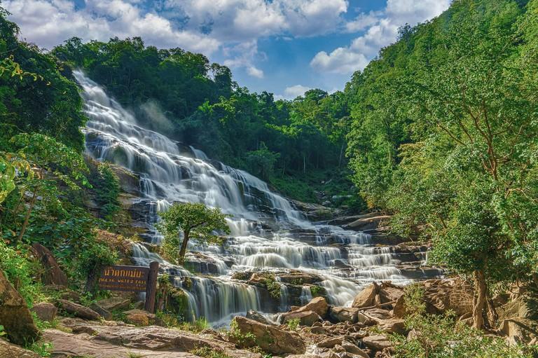 Mae Ya Waterfall in Doi Inthanon National Park Chiang Ma Northern Thailand