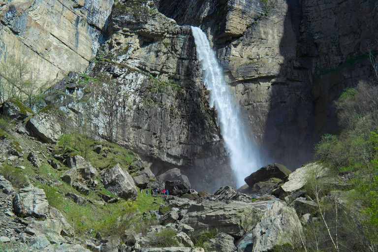 The Mucuq waterfall is located 15 km to the North from Gabala. Its height is 54 meters and it is the highest waterfall in Azerbaijan.