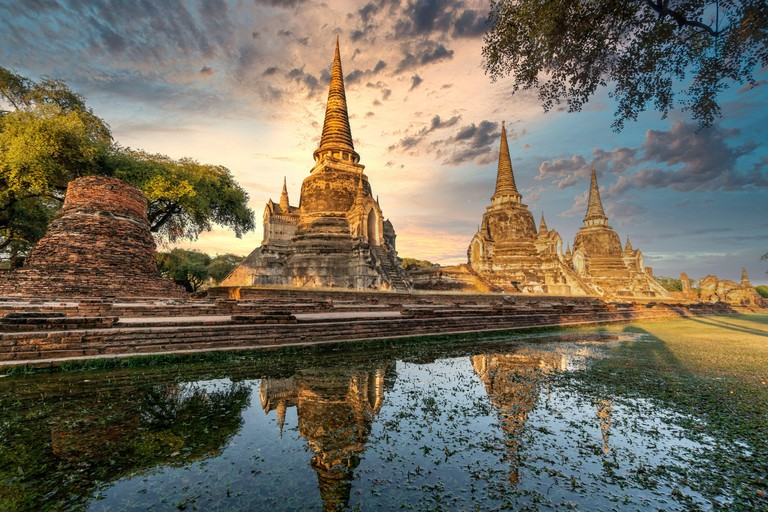 Wat Phra Sri samphet, , Ayutthaya Historical Park, UNESCO World Heritage Site, Ayutthaya, Thailand, Southeast Asia, Asia