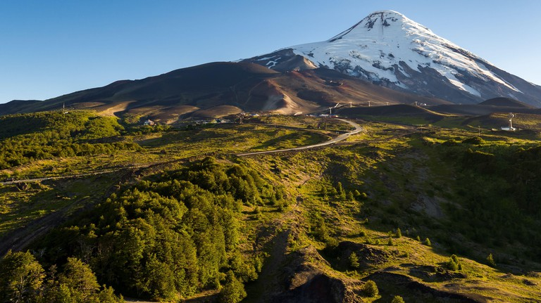 Path leading to the foot of the Osorno Volcano