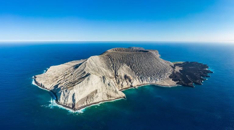 Aerial view of Isla San Benedicto