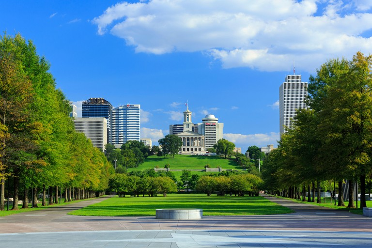 Bicentennial Capitol Mall State Park & Capitol Building,Nashville,Tennessee,USA