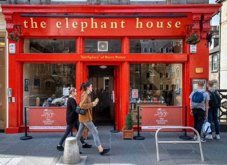 The Elephant House, Edinburgh, Scotland, UK. The cafe is known as the birthplace of Harry Potter as author JK Rowling wrote some of her novels here.