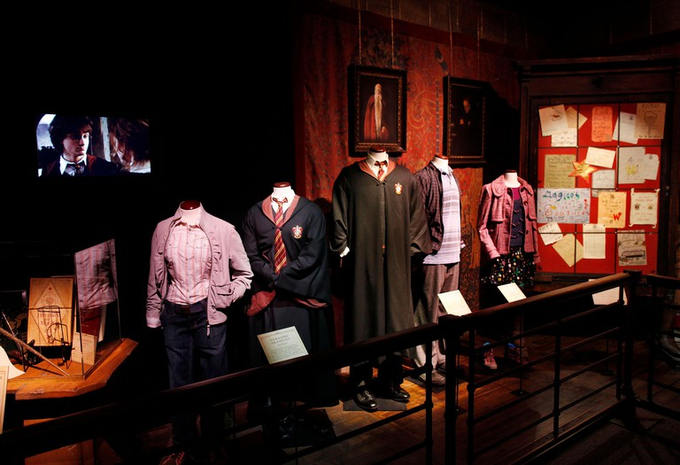 """A room inside  """"Harry Potter: The Exhibition"""" is pictured during a preview in New York, March 31, 2011. With hundreds of artefacts, dozens of costumes and props and furniture from all the films, a new exhibition at the Discovery Times Square building tran"""