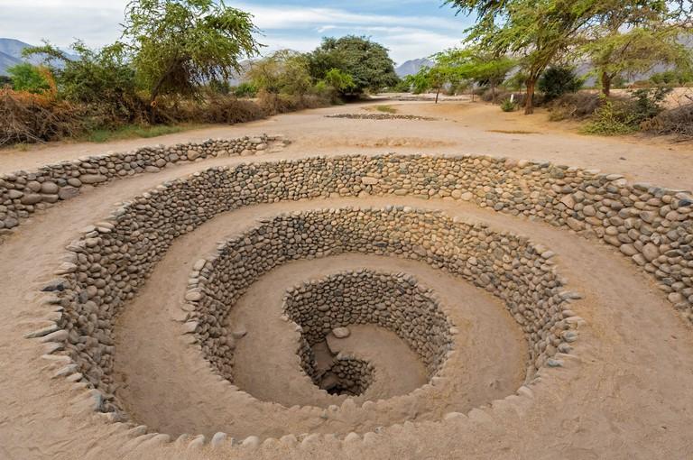 Peru, Nazca, Cantalloc Aqueduct