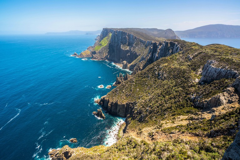 Beautiful coast landscape of Tasman National Park in Tasman peninsula, Tasmania, Australia.