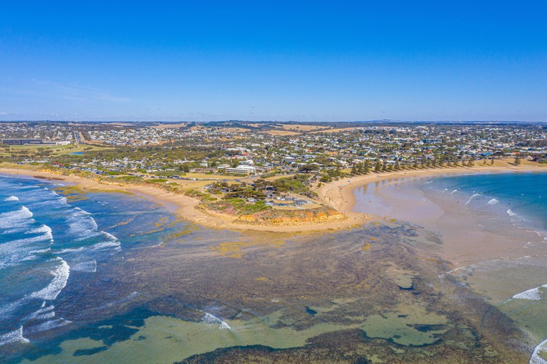 View of a beach at Torquay, Australia