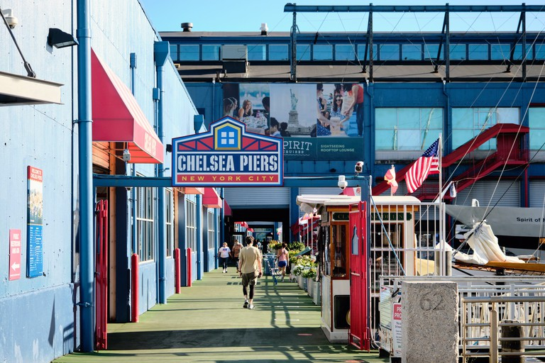 Pier 62 Entrance of the Chelsea Piers Sports and Entertainment Complex, Manhattan, New york City, USA