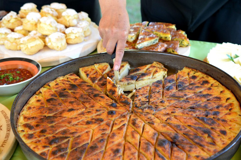 traditional homemade pastry called gomleze in macedonia image