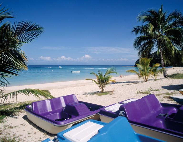 Contadora Island in the Pearl Islands, Republic of Panama.  Playa Larga.