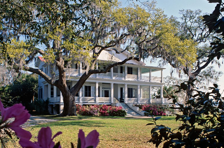 Antebellum home in Beaufort South Carolina USA Famous as the setting of the movie The Big Chill