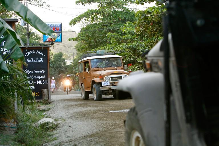 A typical dirt road in Santa Teresa beach Nicoya peninsula Costa Rica. Image shot 02/2007. Exact date unknown.
