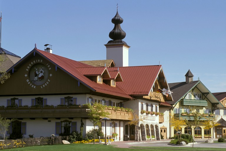 famous Bavarian Inn at Frankenmuth Michigan with a quaint German like atmosphere and theme