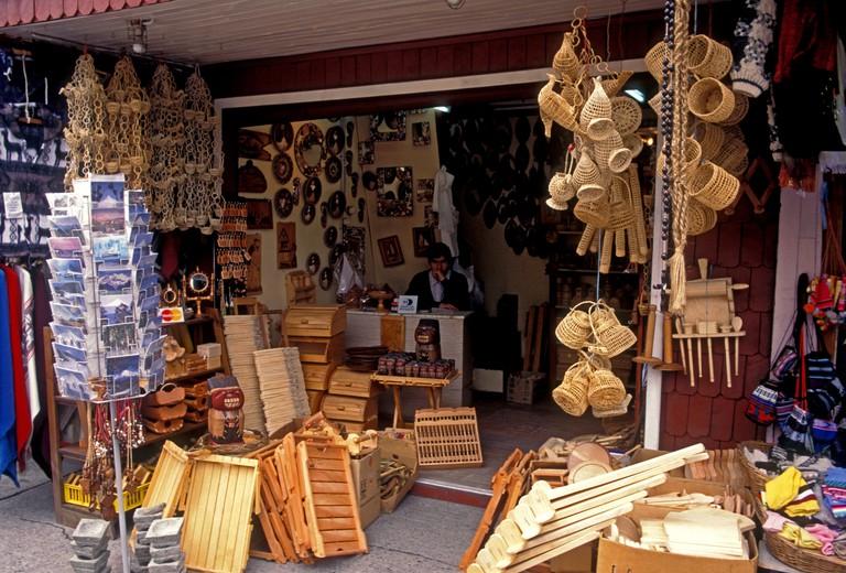Souvenirs store, Puerto Montt, Chile