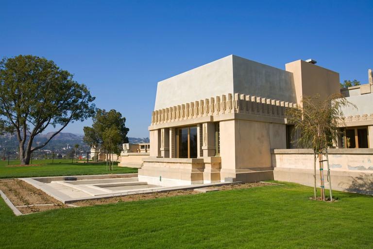 Hollyhock House by Frank Lloyd Wright, Barnsdall Art Park, Los Angeles, USA