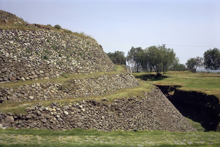 geography / travel, Mexico, Mexico City, ruins, pyramid of Cuicuilco, built: 500 BC, exterior view, Additional-Rights-Clearance-Info-Not-Available