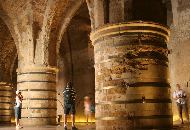 Israel Acre The subterranean crusaders knight s halls in old Akko