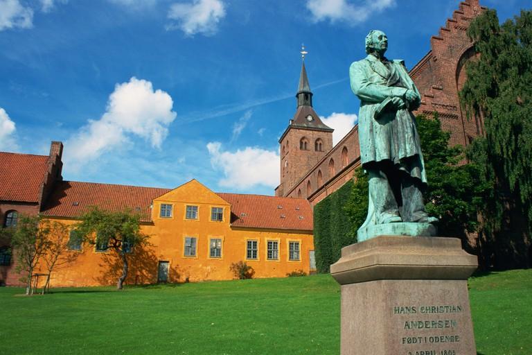 Statue of Hans Christian Andersen Odense Funen Denmark Scandinavia Europe