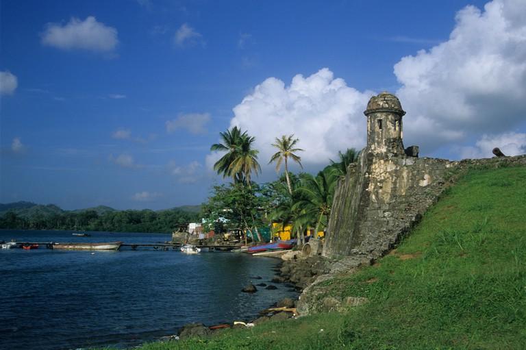 Santiago fort, Portobelo, Colon Province, Panama. Image shot 02/2002. Exact date unknown.