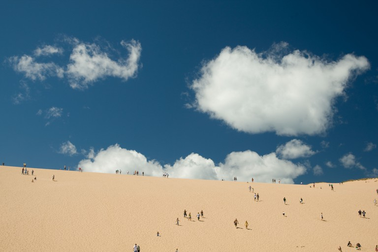 Dune Climb Sand Dunes, Sleeping Bear Dunes National Lakeshore, Michigan USA