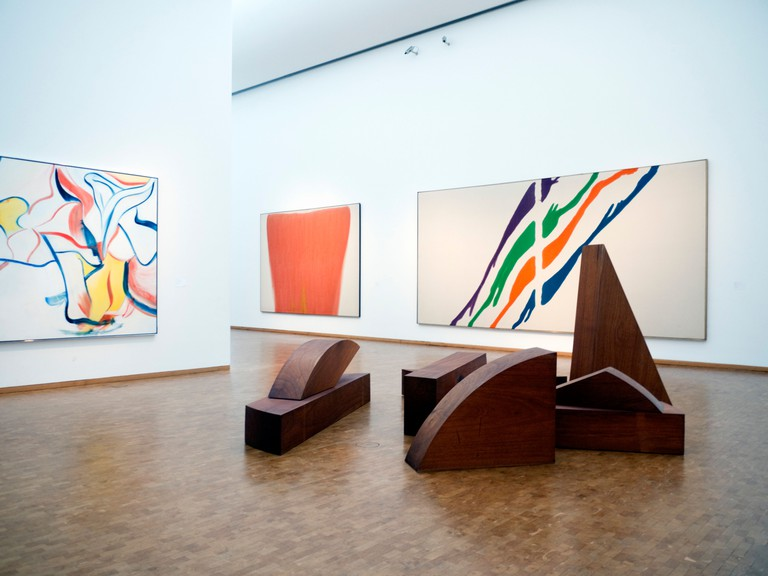 BE1276 Modern art on display at famous Museum Ludwig in Cologne Germany