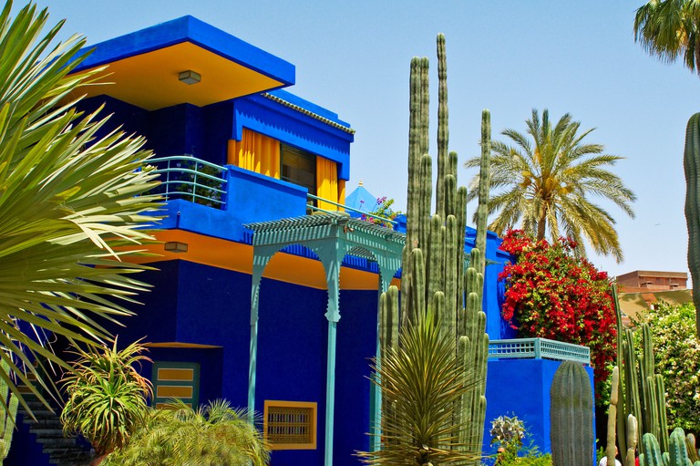A view of the old studio of Jacques Majorelle, now the Museum at Jardin Majorelle in Marrakech