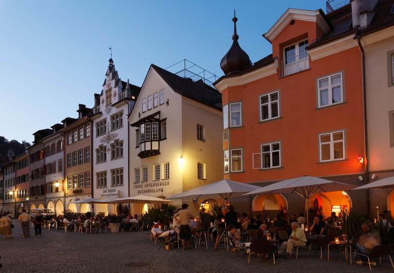 Marktgasse street, Feldkirch, Vorarlberg, Austria, Europe