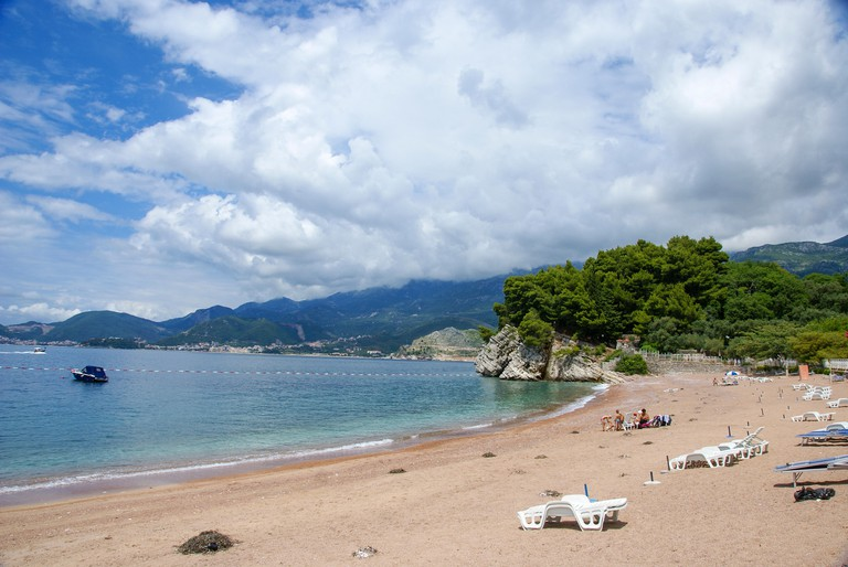 Bečići Beach, Becici, Budva Riviera, Montenegro