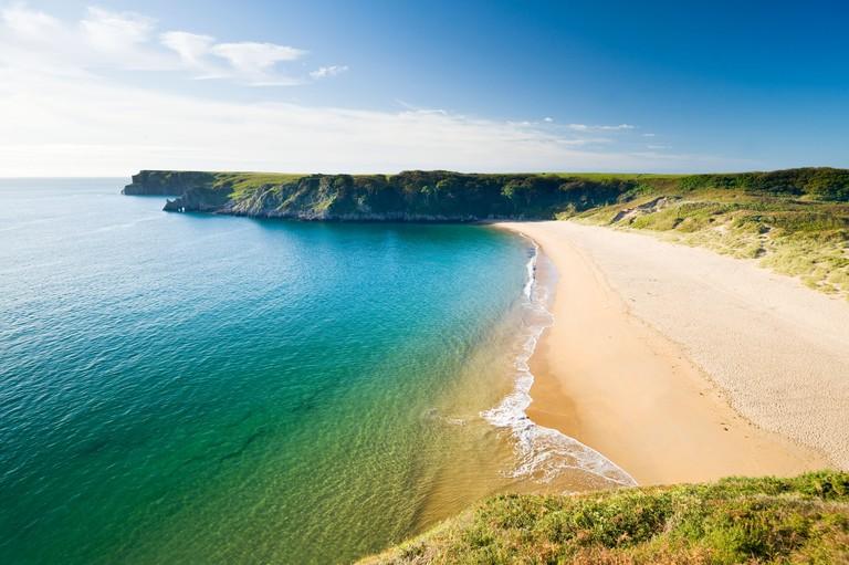 Barafundle Bay, Pembrokeshire Coast National Park, South Wales, UK.