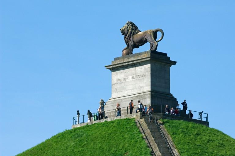 Lion Hill / Lion's Mound / Butte du Lion memorial monument of the 1815 Battle of Waterloo, Eigenbrakel near Brussels, Belgium
