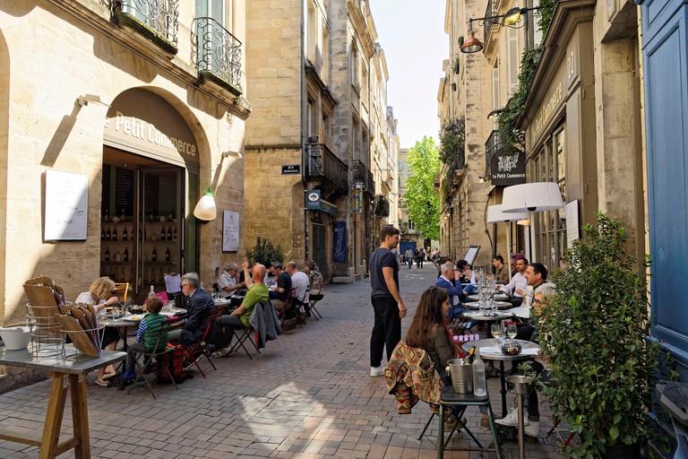 France, Gironde, Bordeaux, area listed as World Heritage by UNESCO, Saint Pierre district, Rue Parlement Saint Pierre