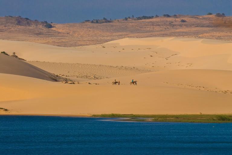 Sand dunes of Mui Ne, Vietnam, Indochina, Southeast Asia, Asia