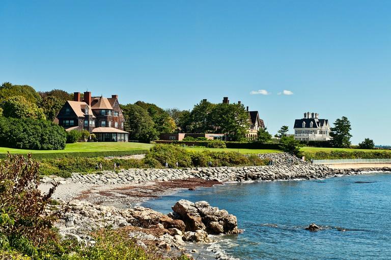 Cliff Walk mansions, Newport, Rhode Island, USA
